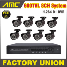8cs 600TVL Waterproof IR Camera System CCTV System 8ch Channel CCTV Kit Home Video Surveillance DVR Security System 8ch