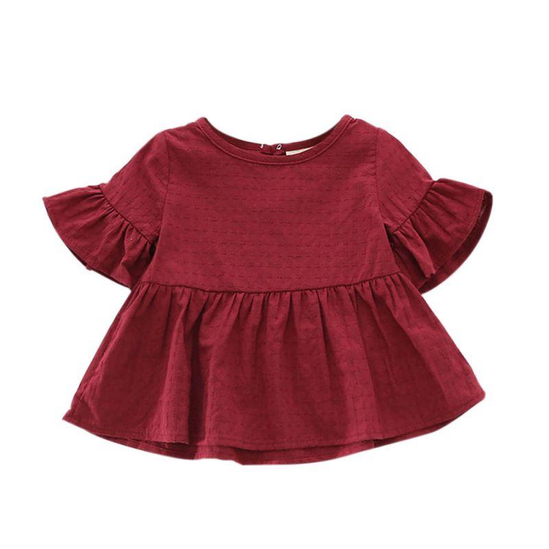 A16 детская одежда для девочек экипажа Средства ухода за кожей Шеи Платье-мини для вечеринок футболки сарафан Одежда Новый