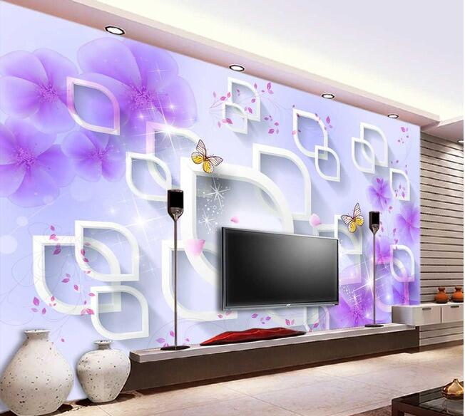 3d wallpaper custom mural non-woven 3d room wallpaper Purple flower 3d fashion background wall photo 3d wall murals wall paper custom 3d photo wallpaper mural nordic cartoon animals forests 3d background murals wall paper for chirdlen s room wall paper