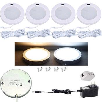12 V 3 W LED bajo la luz del Gabinete Sensor de movimiento LED Puck Light 12 V LED contra luz para la cocina ¡armario de 3 piezas o 4 piezas/juegos