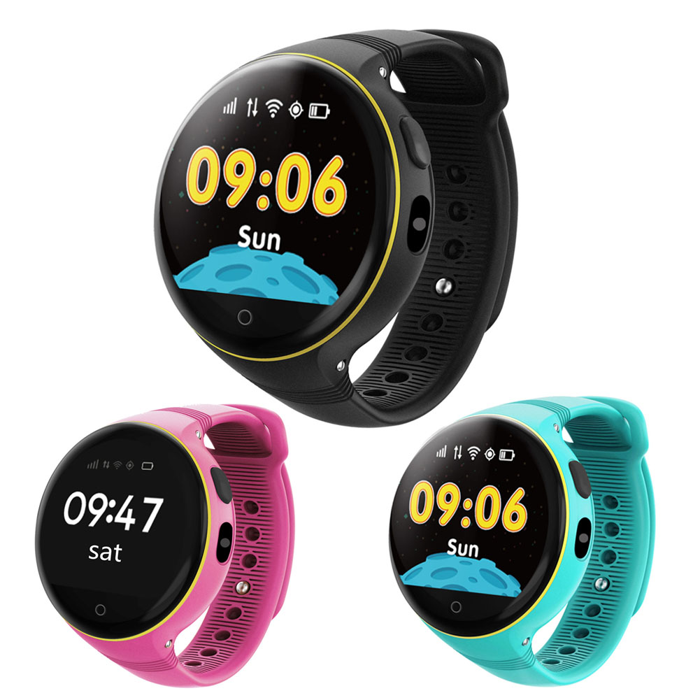 High Quality Children Kids Smart Watch Waterproof Round Screen GPS SOS Wristwatch Remote Viewfinder Support SIM Card GDeals children gps smart watch q750 baby watch with wifi 1 54inch touch screen sos call location device kids watch phone montre f15