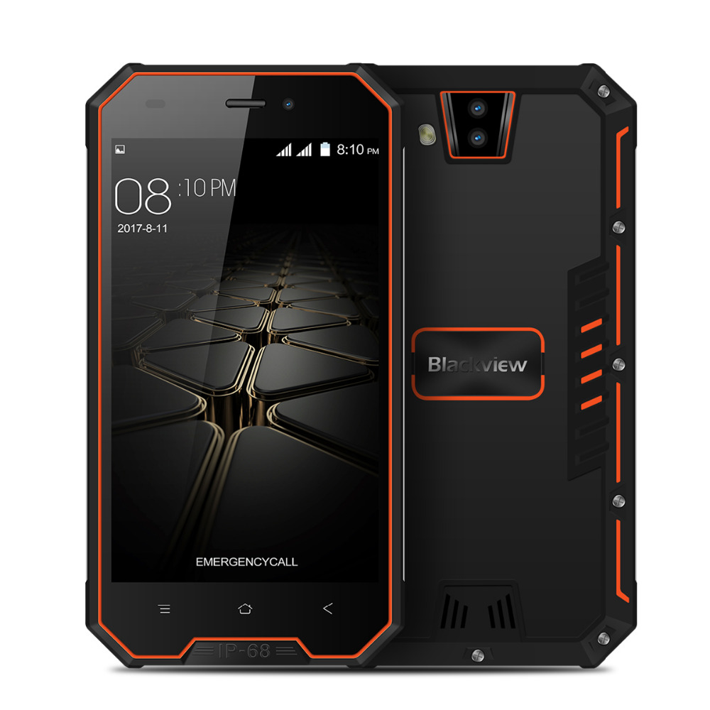 "Original Blackview BV4000 PRO Smartphone Android 7.0 Quad Core 4.7"" 720P 2GB RAM 16GB ROM 8MP 3680mAh cell phone with earphone"