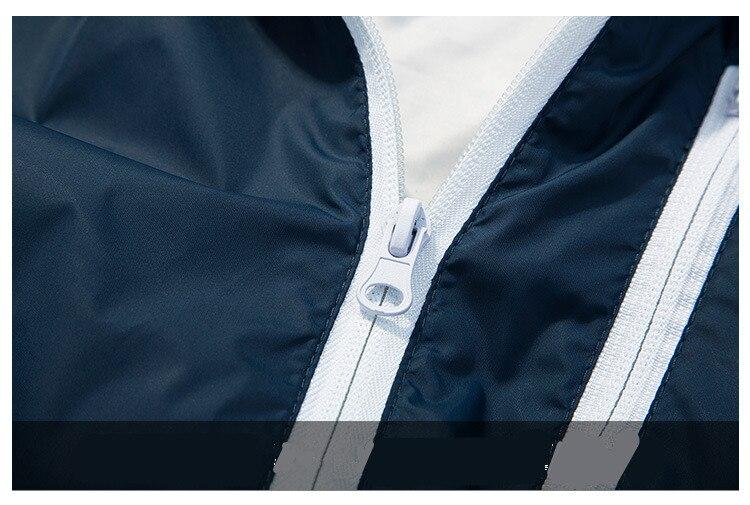 HTB1n00RXZvrK1Rjy0Feq6ATmVXak FGKKS Men Jacket Windbreake Autumn Men's Fashion Jacket Hooded Casual Male Coat Thin Men's Jackets Sunscreen