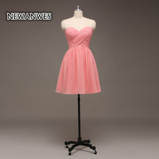 Coral Pink Short Party Dress Off Shoulder Cocktail Dress Bridesmaid Dress  Cheap Girls Dress 40410412d548