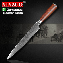 NEW  8″ inch cleaver knives Japanese VG10 Damascus steel kitchen  slicing/Carving knife wood handle FREE SHIPPING