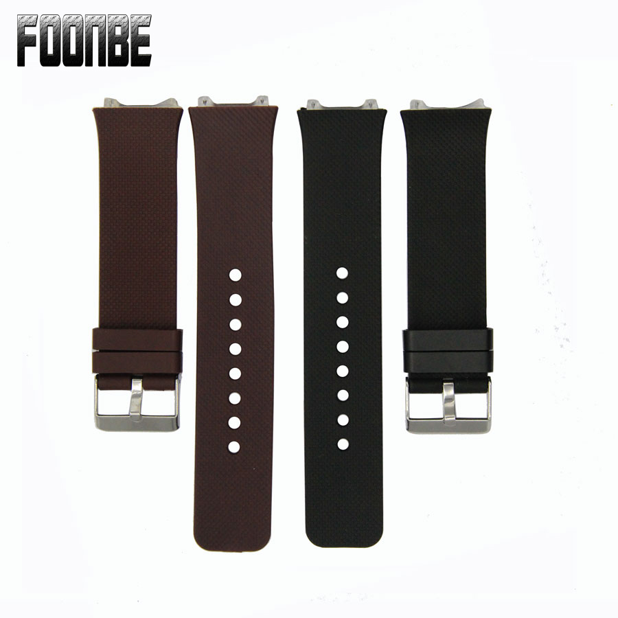 Foonbe Smart Watch Strap Silicone Wrist Band Strap Metal Buckle Bracelet Replacement For DZ09 Smart Watch