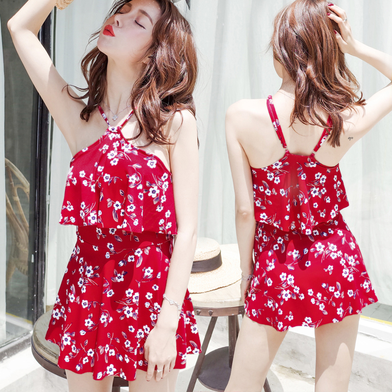 Beach Sports Swim Woman One-piece Swimsuit Female Skirt Style Small Chest Gather Together Bikini Hot Spring Swimsuit beach sports woman swim one piece swimsuit female skirt style big chest small chest gather together large size sexy swimsuit