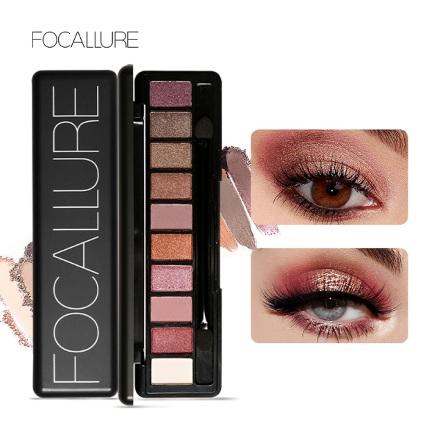 Focallure 10Pcs Makeup Palette Natural Eye Makeup Light Eye Shadow Makeup Shimmer Matte Eyeshadow Palette Set 1