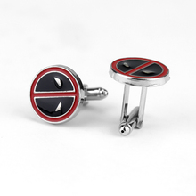 Movie Deadpool Cufflink for Men Metal Alloy High Quality Enamel Cuff Bottons Hot Sell Cuff Links for Shirt Gift For Friend vintage sell high buy now stock market cufflinks for men shirt cuff buttons business sleeve nail steel brothers gift for friend