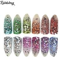 12 Pcs Lot Shine Nails Glitters Acrylic Powder Dust For Nail Art Colored Glitter Color Acrylic
