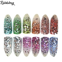 12 Pcs Lot Shine Nails Glitters Acrylic Powder Dust For Nail Art Colored Glitter Color Acrylic