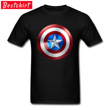 Avengers Superheroes Captain America Shield Tshirts Craft Agent Spider Man Marvel Tee Shirt For Men Top Quality Clothing(China)
