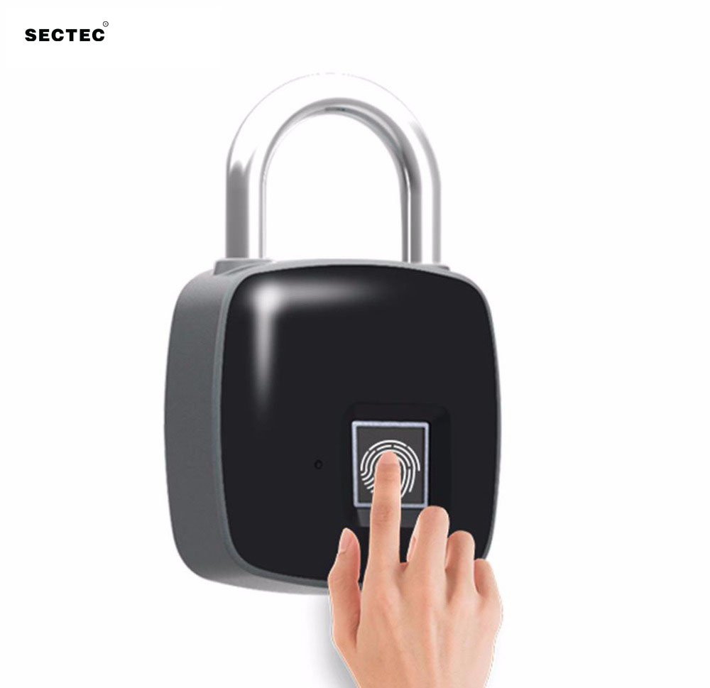 Smart Lock USB Rechargeable  Keyless Fingerprint IP65 Waterproof Anti-Theft Security Padlock Door Luggage Case LockSmart Lock USB Rechargeable  Keyless Fingerprint IP65 Waterproof Anti-Theft Security Padlock Door Luggage Case Lock