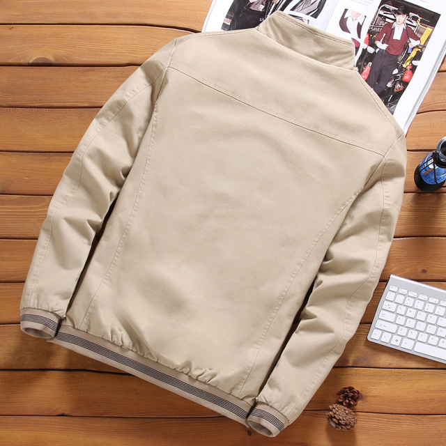 Aturestory Men Winter Bomber Jacket Mens Autumn Cotton Overcoat Male Streetwear Pure Color Casual Jackets Jaqueta Masculina 5XL