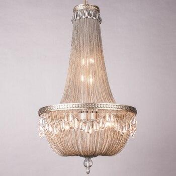 Lớn led Nhôm Chuỗi ánh sáng đèn chiếu sáng cho Phòng Khách mặt dây chuyền đèn Hậu Hiện Đại treo mặt dây chuyền ánh sáng Biệt Thự Penthouse Lampe Avize