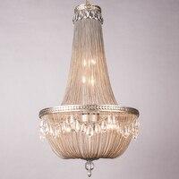 Post Modern hanging Aluminum Chain light for Living Room pendant lamp led lamp pendant light Villa Penthouse Floor Lampe Avize
