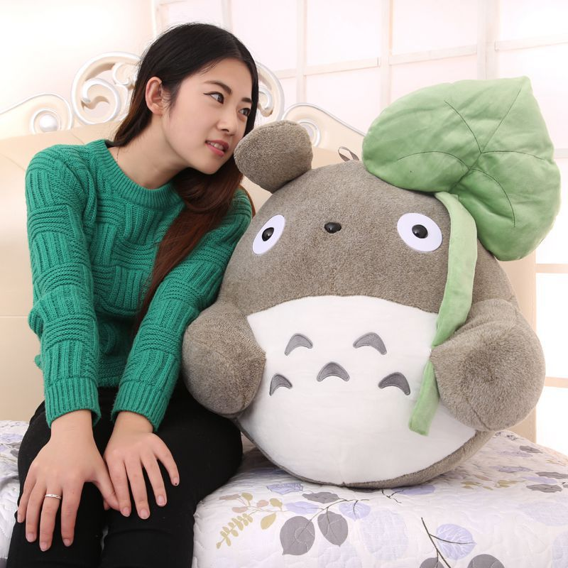 creative Lotus leaf style about 40cm totoro plush toy soft pillow birthday gift w5230