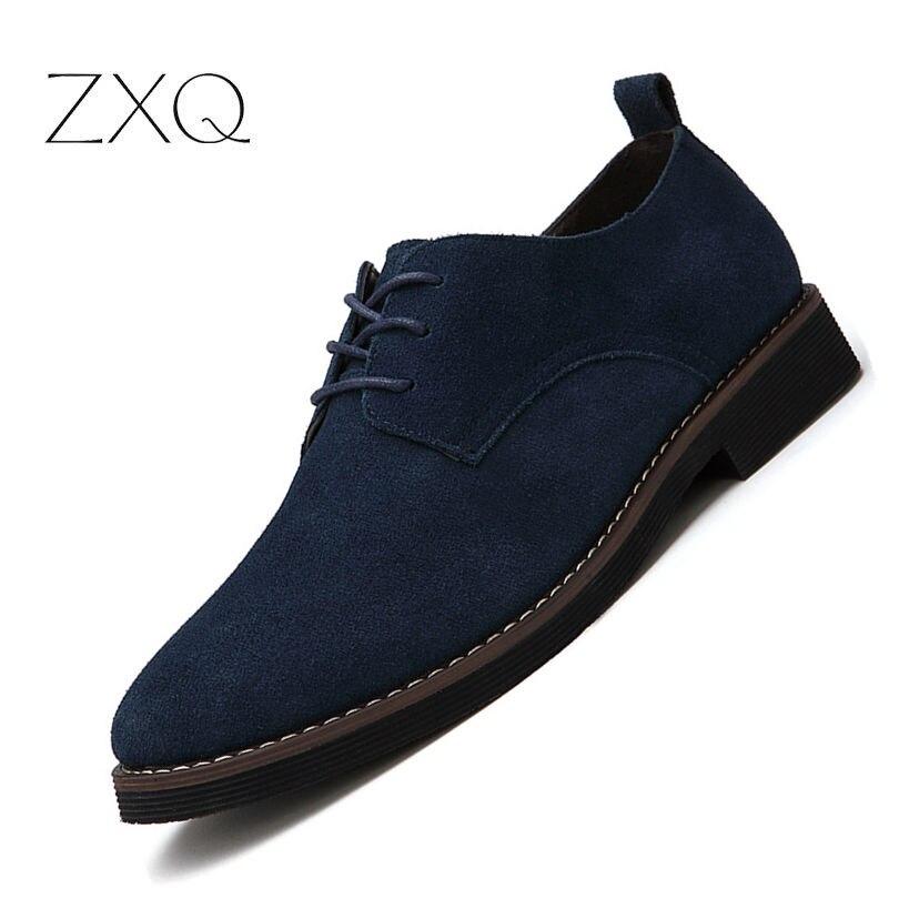 Брендовая итальянская обувь, мужская обувь на плоской подошве, модная обувь из нубука, натуральная кожа, нескользящая обувь на шнуровке, окс...