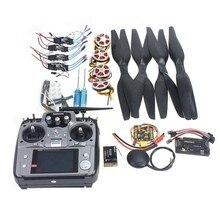 Ejes Estante Plegable RC Quadcopter Kit APM2.8 Junta de Control de Vuelo + GPS + 750KV Motor + 15×5.5 Hélice + 30A ESC + AT10 TX F05422-H