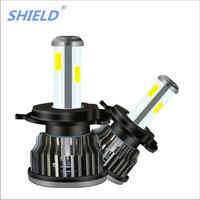 SHIELD Car Accessories Car S10 four side Led Headlights Super Bright Far And Near Light Bulb H7 H1 H4 H11 9005 6000K 8000lm