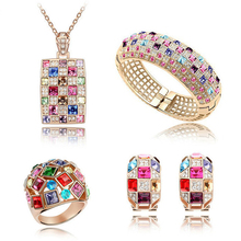 austrian crystal gold-color The queen fine jewelry african c