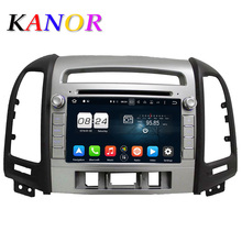 KANOR 1024*600 Octa-core Android 6.0 Auto DVD-Player Für Hyundai Santa Fe 2006-2012 Headunit GPS Navigation 2 Din Auto Audio