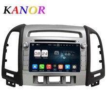 Kanor 1024*600 Octa core Android 6.0 dvd-плеер автомобиля для Hyundai Santa Fe 2006-2012 головного устройства GPS навигатор 2 DIN Аудиомагнитолы автомобильные