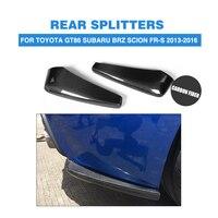 GT86 BRZ Carbon Fiber Bottomline Car Auto Splitters For Toyota Rear Diffuser Splitter Fit For GT86