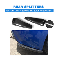 GT86 BRZ Carbon Fiber Bottomline Car Auto Splitters For Toyota Rear Diffuser Splitter Fit For GT86