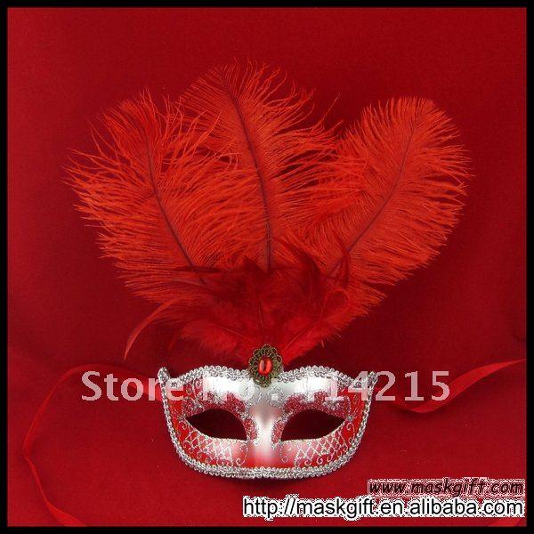 13 дюймов с бесплатной доставкой красивые красном и серебристом цветах Венецианская маска, Пластик маскарад Вечерние маска(A009