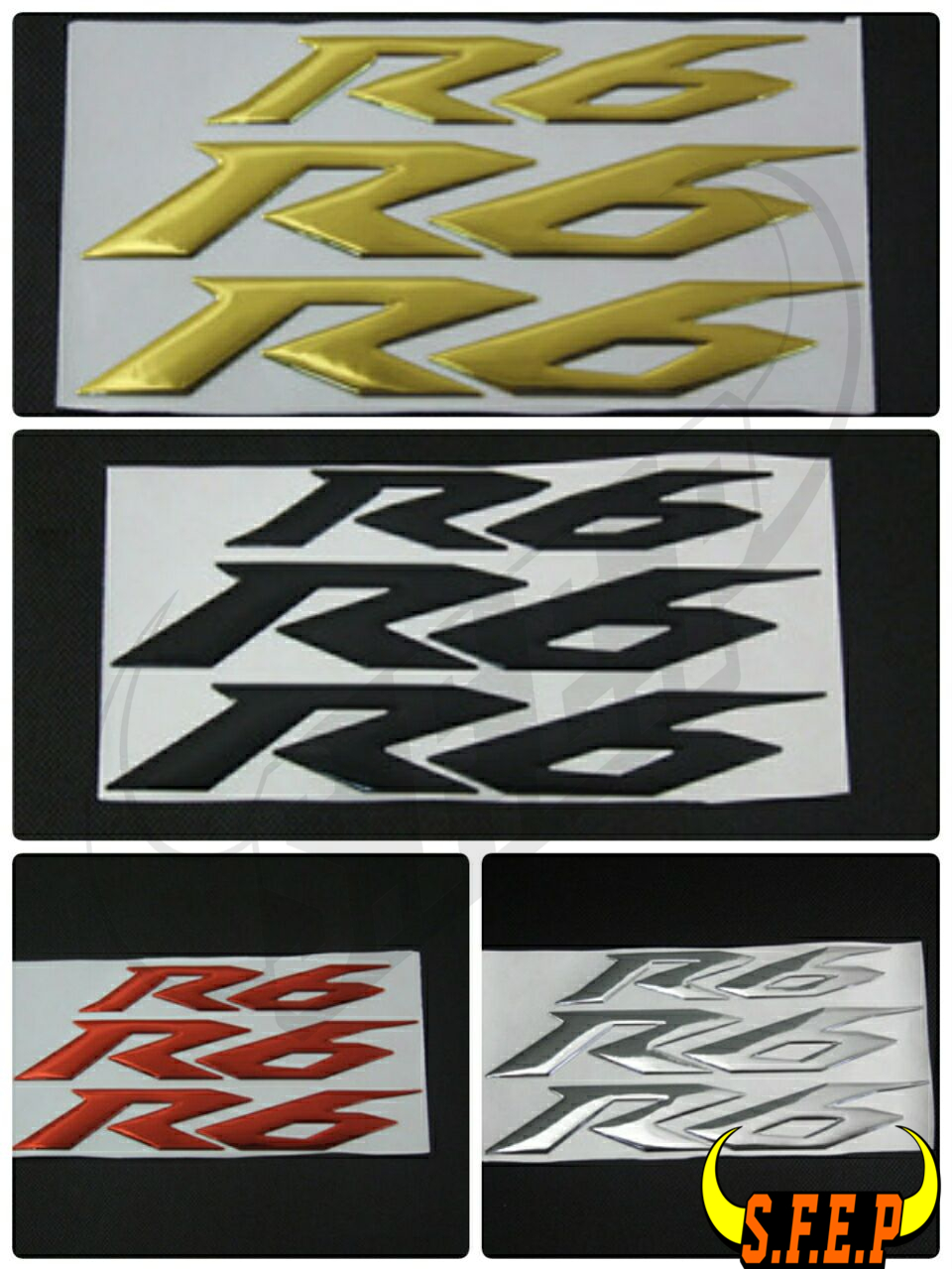 Motorcycle Emblem Badge Decal 3D Tank <font><b>Wheel</b></font> Logo For <font><b>Yamaha</b></font> <font><b>R6</b></font> <font><b>Sticker</b></font> image