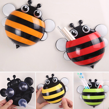 Super Deal Toothbrush Holder Set Family Set Wall Bee Mount Rack Bath toothbrush holder bathroom accessories