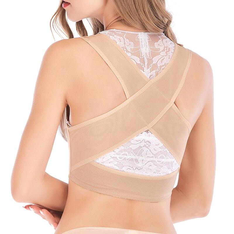 166819bd103e8 Women s Adjustable Shoulder Back Posture Corrector Chest Brace Support Belt Vest  Push Up Chest Breast Belt Body Sculpting Strap-in Tops from Underwear ...