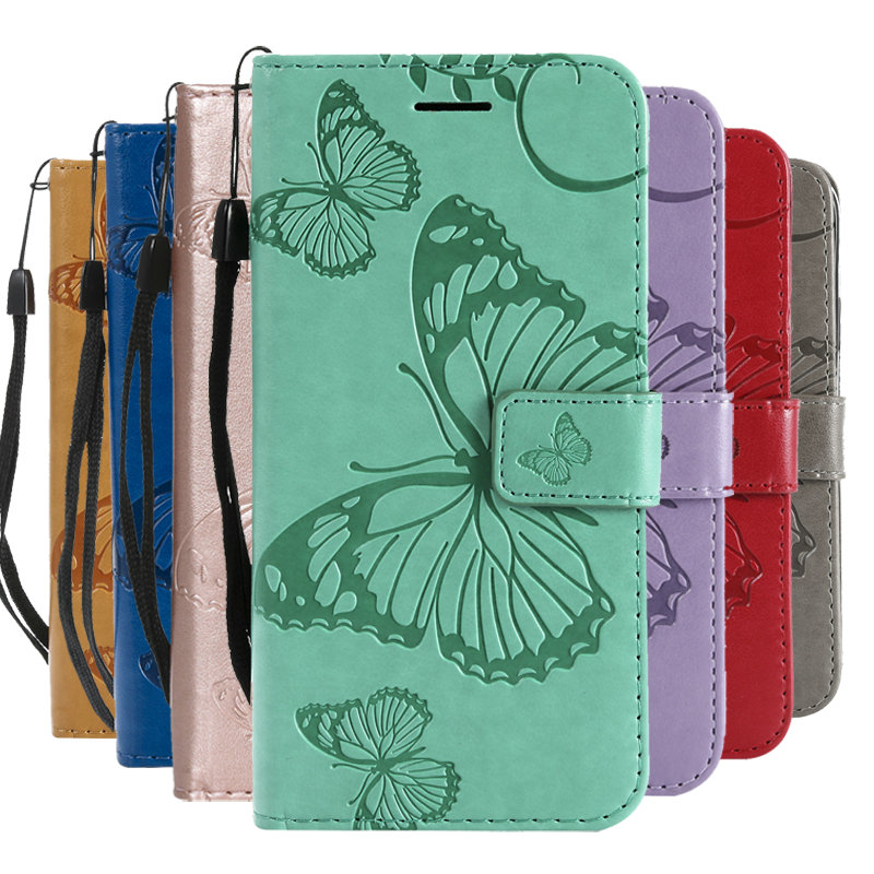 Wallet Butterfly Book Case for Sony Xperia C6 Case Funda Sony Xperia XA Ultra Cover Flip Leather for Sony C6 & XA Ultra 6.0inch