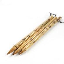 3Pcs/Set Weasel Hair Chinese Calligraphy Brush Pen Chinese Landscape Painting Regular Scrip Writing Brush Set School Stationery