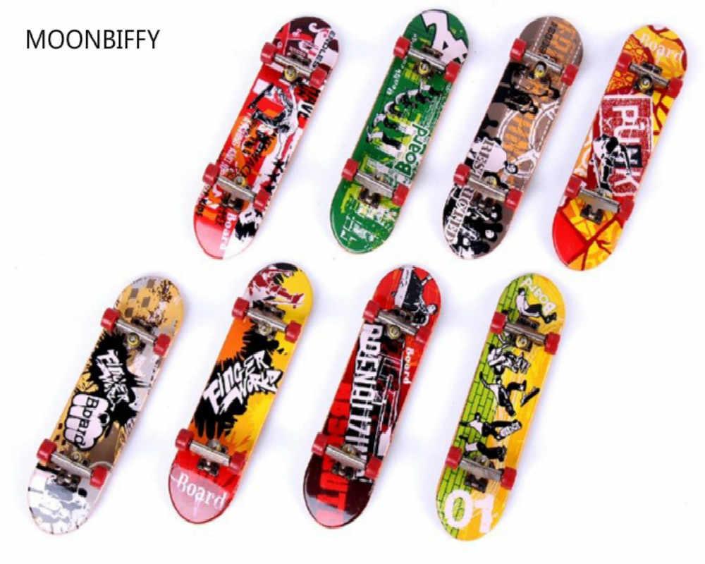 Nova Chegada Estande Liga Escalas Mini Placas de Dedo Caixa de Varejo Mini Skate de dedo Dedo Skate Kids Brinquedos