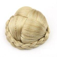 Soowee 8 цветов Малый Размеры трикотажные волос Плетеный Chignon синтетические волосы высокая Температура волокна пончик ролика шиньоны