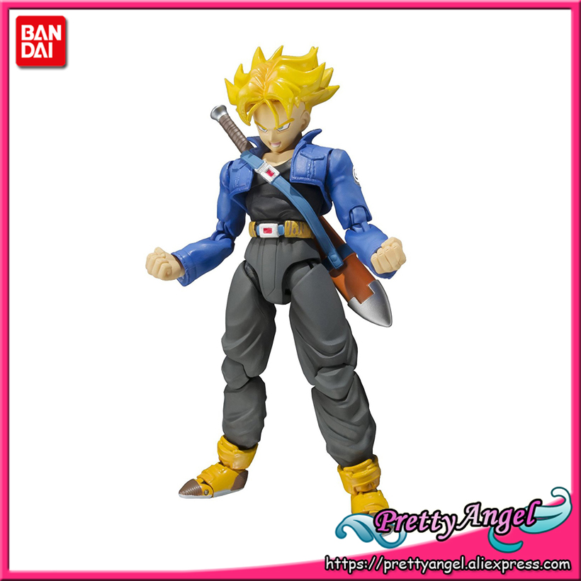 все цены на  PrettyAngel - Genuine Bandai Tamashii Nations S.H.Figuarts Dragon Ball Z Super Saiyan Trunks Premium Color Edition Action Figure  в интернете