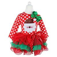 Ai Meng Baby New Year Winter Baby Girl Dress Santa Snowman Children Clothing Girl Christmas Costume