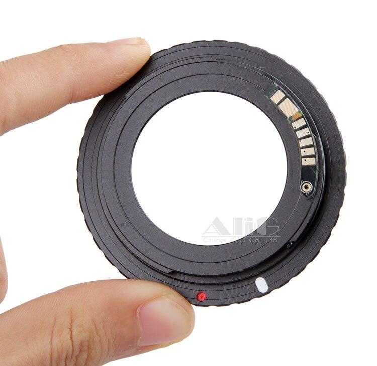 Nuevo Chip electrónico 9 AF confirmar M42 montaje lente adaptador para Canon EOS 5D Mark III 5D3 5D Mark II 5D2 6D 70D 750D 700D