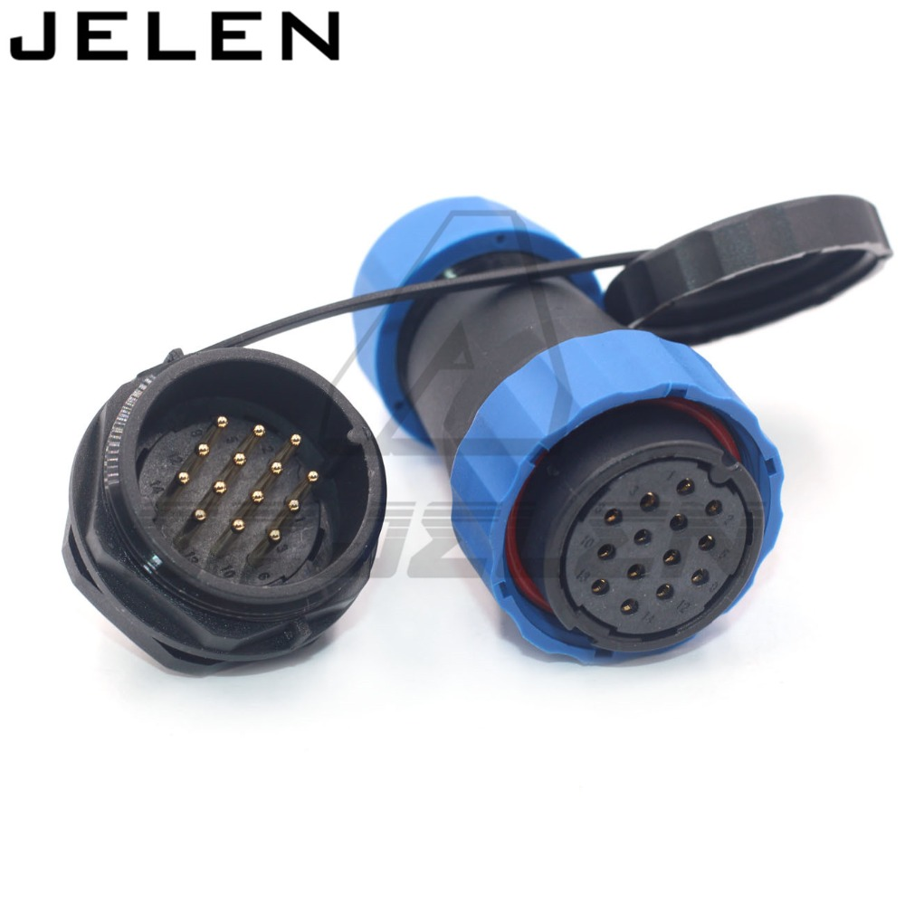 SD28TP ZM   14pin electrical wire connector  waterproof male female connectors 12pin IP68|Connectors| |  - title=