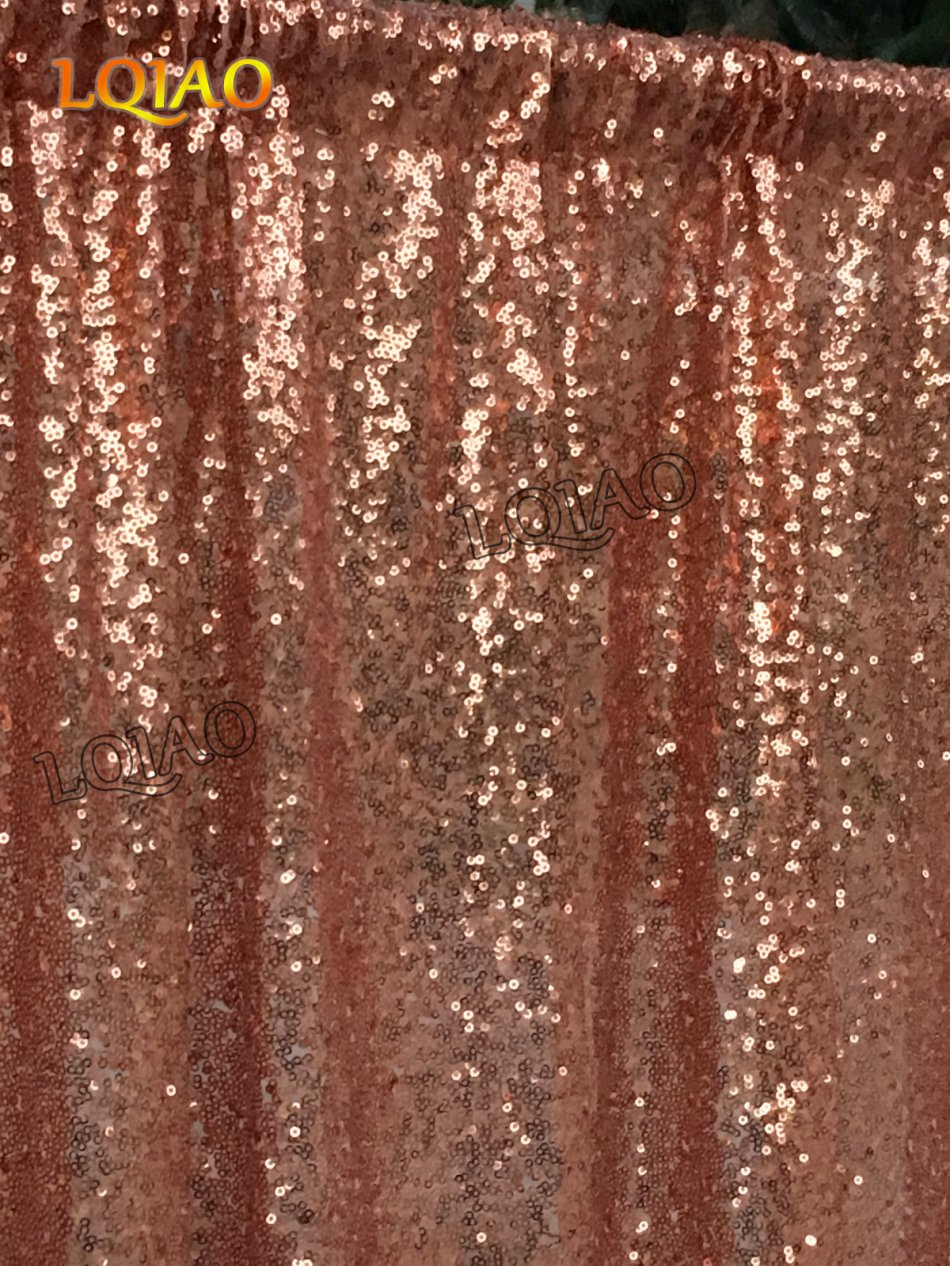 10ftx6ft Sequin Backdrop Rose Gold Sequin Fabric Wedding