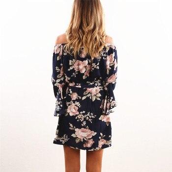 Women Off Shoulder Chiffon Dress 1