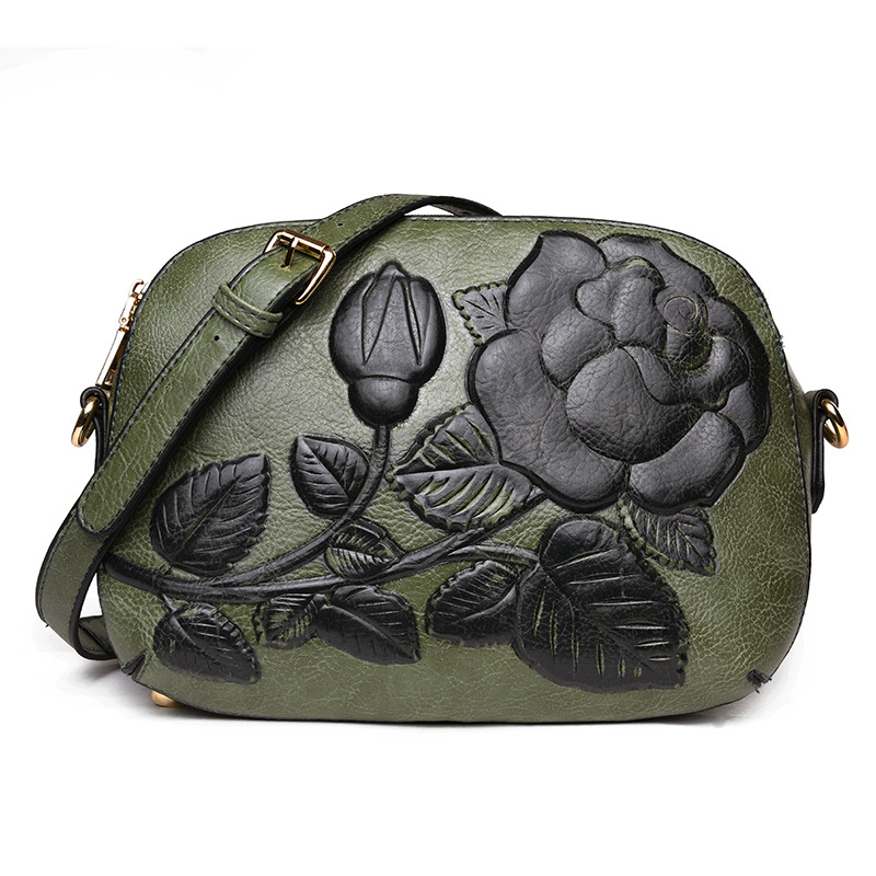 2018 Floral Shoulder bag Ethnic Style Women Messenger Bags High Quality PU Leather Large Capacity Ladies Small Bags Hot Sale New