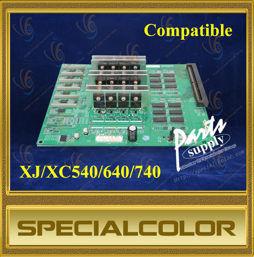 Head Board For Roland XJ/XC540/640/740 Printer permanent roland xj 640 xj 740 eco solvent chips 6pcs set cmyklclm printer parts