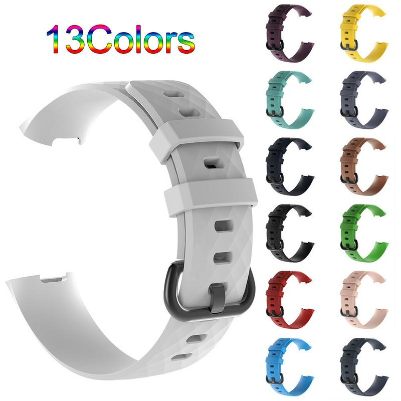 Soft Silicone Sports Replacement Watch Bands Wrist Strap For Fitbit Charge 3 Fitbit Charge3 Smart Bracelet Wrist Band S L replacement luxury silicone watch band wrist strap for fitbit charge 2 bracelet580288