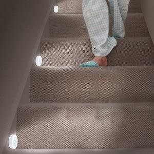 Image 5 - LumiParty 6 LED gece işıkları akıllı hareket sensörlü ışık duvar lamba pili işletilen otomatik açık/kapalı odası dolap dolap WC başucu