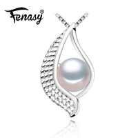 FENASY 2017 New Brand Fine Jewelry Natural Stone Pendant Freshwater Pearl Eye Necklace S925 Sterling Silver