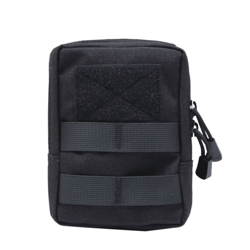 Multifunctional 1000D Outdoor Military Tactical Waist Bag EDC Molle Tool Zipper Waist Pack Accessory Durable Belt Pouch 1 5mm 10pcs lot outdoor tool accessory camping edc gear multifunctional wire rope key ring