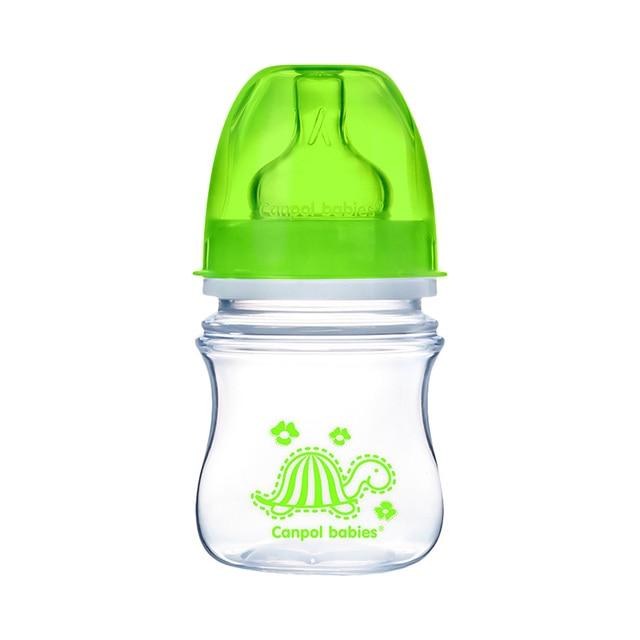 Бутылочка PP EasyStart с широким горлышком антиколиковая, 120 мл, 3+ Colourful animals, цвет: зеленый